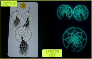 Glow-in-the-dark Dreamcatchers by W0IfDreamer
