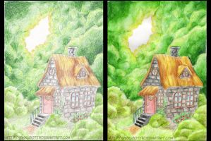 House in the woods by PikkuRotta