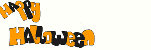 happy halloween lineart banner by tunouno