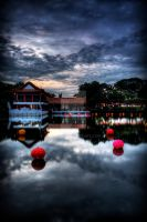 Sunset at Chinese Garden by IcCcYBoi