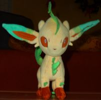 My leafeon plush by leopolt2