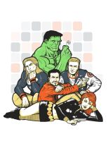 The Avengers Club by ninjaink