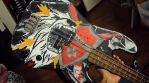 Xanxus Bass Guitar Paint Test by xfoxtails