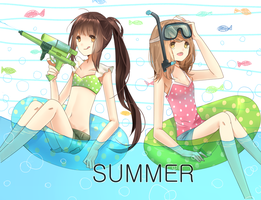 Summer girls by DevilPink