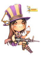 Caitlyn Chibi Render by MayaGenetic