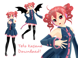 MMD - Teto Kasane + Download by Aira-Melody