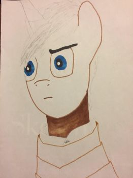 WIP for Leatherneck Brony: 1000 Yard Stare by Niallofthe9ine
