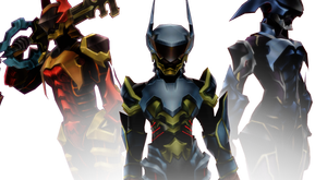 [MMD] Armored Trio by BlackHeartGoddess