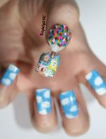 Up Nail Art - Take Two by KayleighOC