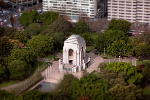 Sydney Monument tilt by RaynePhotography
