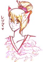 Kitsune - chan :P by AnimeBrownie
