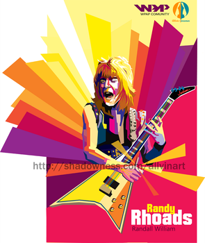randy rhoads by allvinART