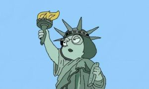 Meg as the Statue of Liberty by iLoveMegGriffin06