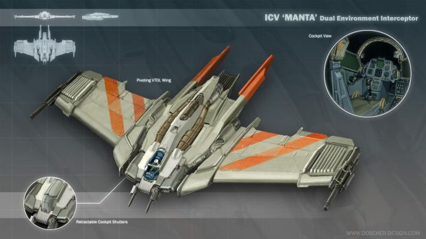 ICV 'Manta' Interceptor by MikeDoscher