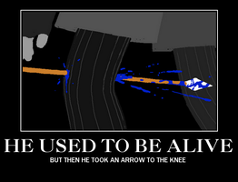 EQUIUS TOOK THE ARROW TO THE KNEE by 3-MuffinNomShogaki-3