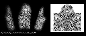 Half sleeve tribal by shepush