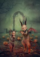 Evil spirits Halloween by Vasylina