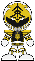 Chibi MMPR White Super Power Beatdown Edition by Zeltrax987