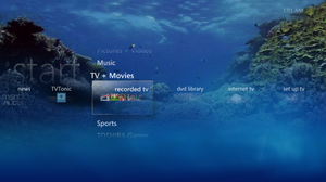 Media Center Aquarium Skin by chuckdobaba