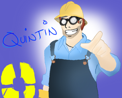 Quintin the BLU Engineer by KakashiUmino