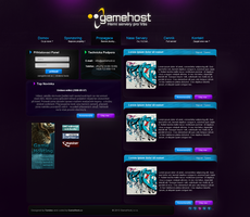 GameHost 01 WebDesign by Tom1no