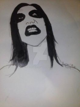 Mr. Manson Painting/Ink by AwsmSplr