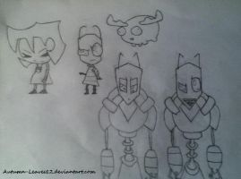 Invader Zim Characters by FrameofReality