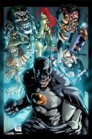 Batman vs Enemies Colors by MARCIOABREU7