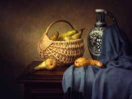 Still Life with Pears by Daykiney