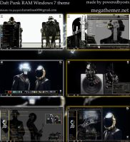 Daft Punk RAM 2014 Windows 7 theme by poweredbyostx