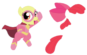Power Ponies Applebloom Base by SelenaEde