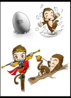 cute pretty monkey king by ArtBennyRGrau