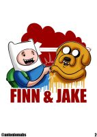 Finn And Jake by Mabelma