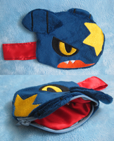 Garchomp plush pouch by aSourLemon