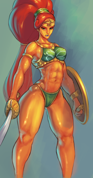 Urbosa by cutesexyrobutts