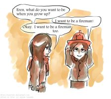 And Then Mikasa Is The Best Fireman Ever by Tavoriel