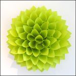 Paper Dahlia Wreath by BlueTF