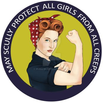 Scully, the riveter. by Ruru-W
