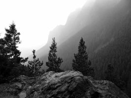 Mountaintop Black and White by cjosborn