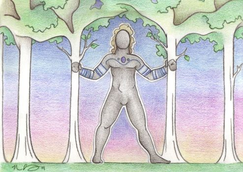 Wild Man Among the Trees by Spiralpathdesigns