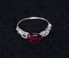 Garnet Ring by SilverRoseJewelry