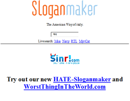 Slogan Maker:Italy by ShadowTiger10