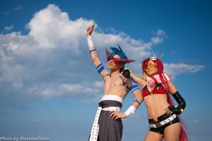 Kamina and Yoko by Eyes-0n-Me