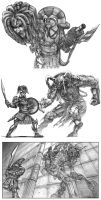 Greek Heroes and Monsters by jubjubjedi