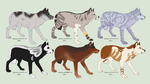 Wolf Adopts! by SometimeSlime