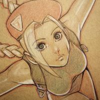 Cammy Sketch Close up by Omar-Dogan