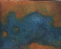 Watercolor texture blue-rust by paintresseye