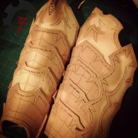 Drow leg armor WIP by Feral-Workshop