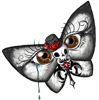 Tattoo Skull Butterfly by xTheDevilWearsPradax