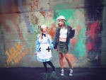Fem!UsUk Cosplay #4 - Stuck in a mural by YamiMana